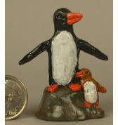 Penquin with Chick painted
