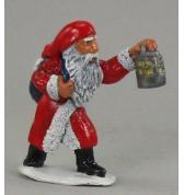 Large santa with Lantern painted