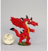 Small Long Neck Dragon painted