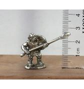Goblin with Spear and Shield Back pewter