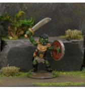Orc with Raised Scimitar painted