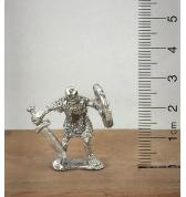Skeleton in Chainmail with Sword pewter
