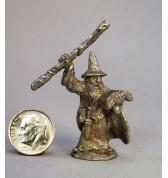 Wizard with Spell Book pewter